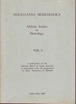 Miscellanea Musicologica: Adelaide Studies in Musicology Volume 4: McCredie (ed.), Andrew D