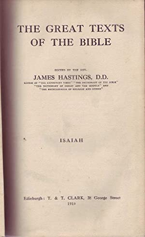 The Great Texts of the Bible: Isaiah: Hastings (ed.), J.