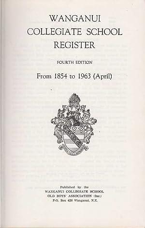 Wanganui Collegiate Register from 1854-1963: Various