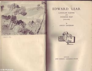 Edward Lear: Landscape Painter and Nonsense Poet: Davidson, Angus