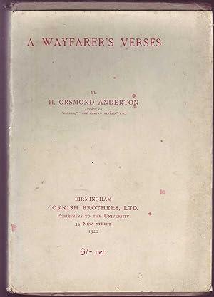 A Wayfarer's Verses: Anderton, H. Orsmond