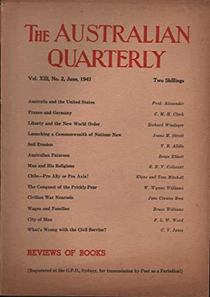 The Australian Quarterly Vol. XIII, No. 2: Various
