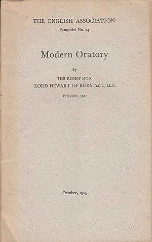 Modern Oratory: Lord Hewart