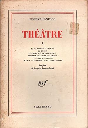Theatre D'Eugene Ionesco 1: Ionesco, Eugene