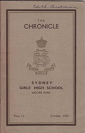 The Chronicle 1936 ed.: Sydney Girls' High School Magazine: Various