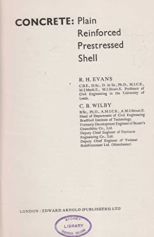 Concrete: Plain Reinforced Prestressed Shell: Evans & Wilby, R.H. / C.B.