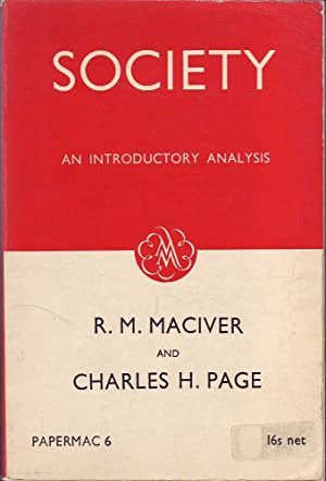 Society: An Introductory Analysis: MacIver & Page,