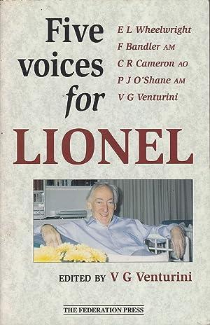 Five Voices for Lionel: Venturini (ed.), V.G.
