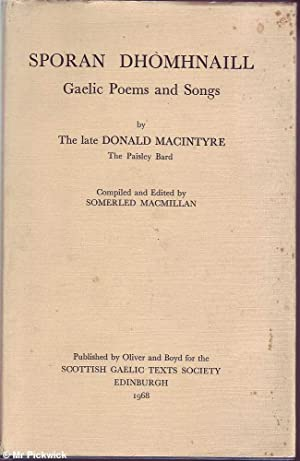 Sporan Dhomhnaill: Gaelic Poems and Songs by the Late Donald MacIntyre: MacMillan (Ed.), Somerled