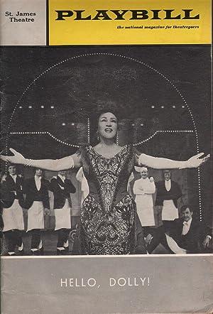 Playbill: Hello, Dolly - St. James Theatre: Rubin (Ed.), Joan