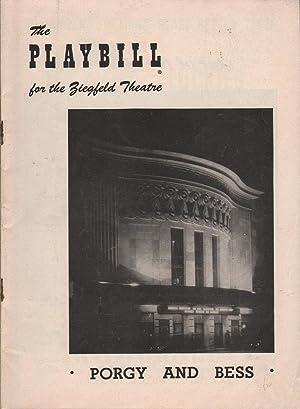 Playbill: Porgy and Bess - The Ziegfeld Theatre: Various