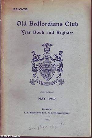 Old Bedfordians Club Year Book and Register: Various