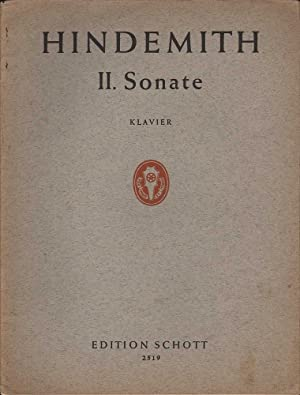 Hindemith II. Sonate for Piano / Sonaten: Hindemith, Paul