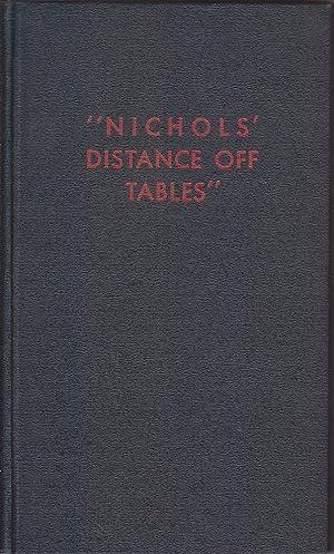 Distance Off Tables: Nichols, Daniel E.