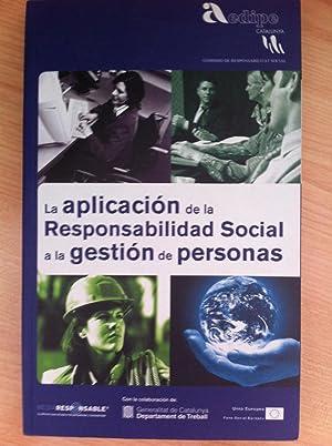 La Aplicación de la Responsabilidad Social a la Gestión de Personas.: ...