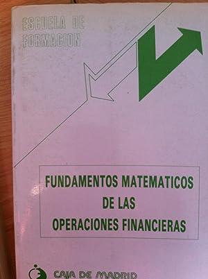 Fundamentos Matemáticos de las Operaciones Financieras: José Antonio Royuela