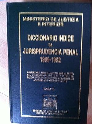 DICCIONARIO ÍNDICE DE JURISPRUDENCIA PENAL. TOMO IX.: Urbano Ruiz Gutiérrez