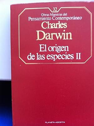 OBRAS MAESTRAS DEL PENSAMIENTO CONTEMPORANEO NUMEROS 31 y 32: El origen de las especies. Tomos I y ...