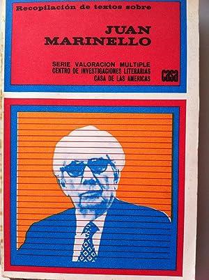 Recopilación de textos sobre Juan Marinello: VVAA. Prologo de