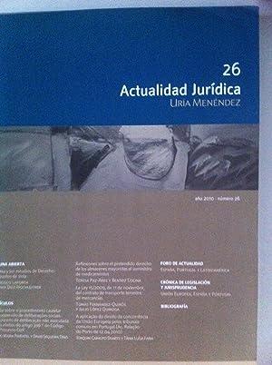 Revista Actualidad Jurídica Uría Menéndez. Número 26.: VVAA