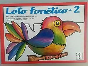 Loto fonético ¿ 2. Material de reeducación: Adoración Juárez Sánchez,