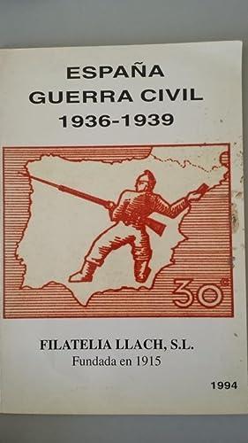 ESPAÑA GUERRA CIVIL 1936-1939: Sobretasas locales de: Filatelia Llach S.L.