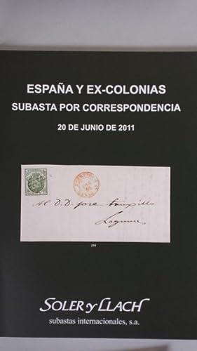 SOLER Y LLACH. Subasta pública España y: Soler y Llach
