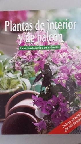 Plantas de interior y de balcón. Ideas: VVAA
