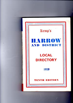 Kemp's Harrow and District Local Directory, 1959.