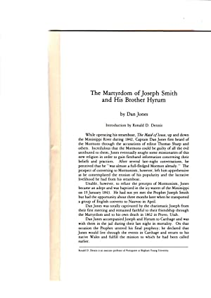 The martyrdom of Joseph Smith and his: Dan Jones. Introduction