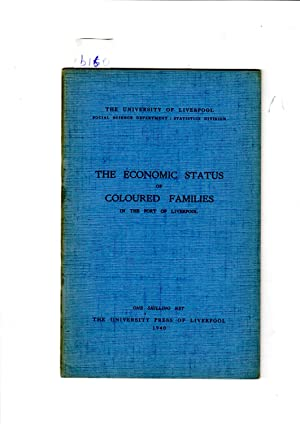 The economic status of coloured families in: The University Press
