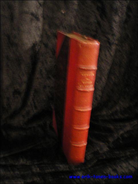 DAPHNIS ET CHLOÉ, LONGUS; Hardcover Relié de l' époque, demi - maroquin rouge, plats marbé rouge, dos à nerfs, pièce de titre doré, plats de papier marbrés, couverture originale, 10,5x17