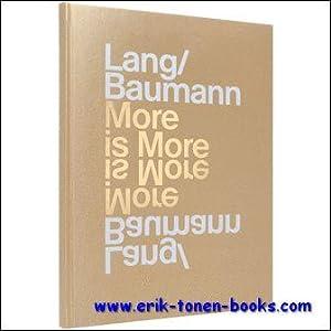 Lang/Baumann: More is More: Sabina Lang, Daniel Baumann