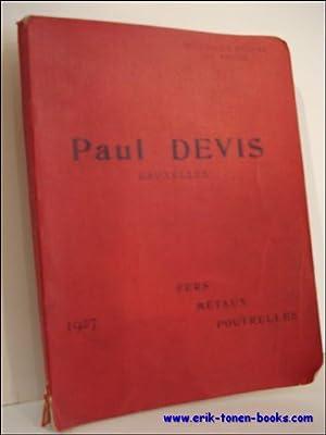 PAUL DEVIS BRUXELLES. FERS. METAUX. POUTRELLES,: N/A;