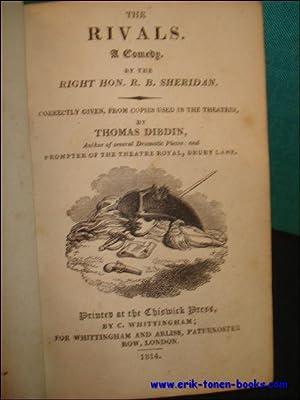 THE RIVALS/ THE CRITIC/ A TRIP TO SCARBOROUGH.: SHERIDAN, RICHARD BRINSLEY/ DIBDIN THOMAS...