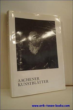 AACHENER KUNSTBLATTER DES MUSEUMSVEREINS,: LUDWIG, Peter;