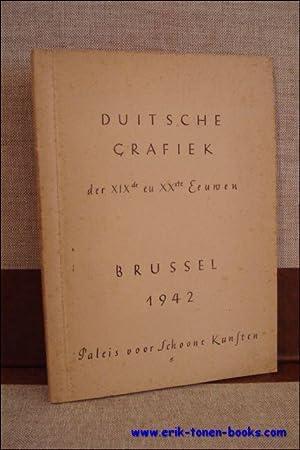 DUITSCHE GRAFIEK DER XIXde EN XXste EEUWEN,: HETSCH, Rolf ( inl. );