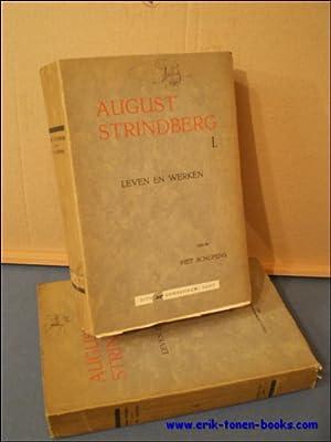AUGUST STRINDBERG, Leven en werken. Twee delen.: SCHEPENS, Piet,