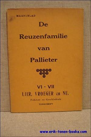 De Reuzenfamilie van Pallieter. VI -VII Lier, vroeger en nu. Folklore en geschiedenis tijdschrift.:...