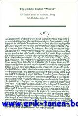 Middle English 'Mirror'. An Edition Based on Bodleian Library, MS Holkham misc. 40,: K. ...