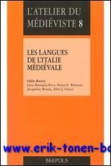 langues de l'Italie médiévale. Textes d'histoire et de littérature, ...