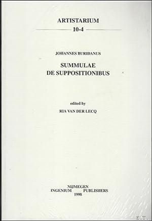 Johannes Buridanus: Summulae: De suppositionibus,: R. van der Lecq (ed.);