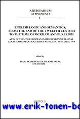 English Logic and Semantics, from the End of the Twelfth Century to the Time of Ockham and Burleigh...