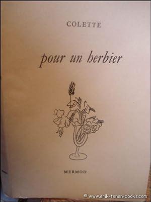 POUR UN HERBIER.: COLETTE.