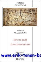 Petrus Abaelardus Scito te ipsum - Erkenne dich selbst ,: R. Ilgner (ed.);