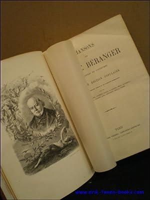 CHANSONS DE P.-J. DE BERANGER, ANCIENNES ET POSTHUMES. NOUVELLE EDITION POPULAIRE,: N/A;