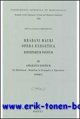 Hrabani Mauri Opera exegetica. Repertorium fontium. III ,: S. Cantelli;