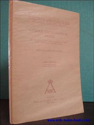 CORPUS CATALOGORUM BELGII. DE MIDDELEEUWSE BIBLIOTHEEKCATALOGI DER ZUIDELIJKE NEDERLANDEN I ...