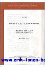 Bibliothèque Nationale de France. Hébreu 214 à 259. Commentaires bibliques,: S...