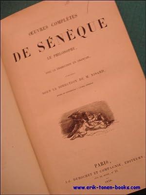 OEUVRES COMPLETES DE SENEQUE LE PHILOSOPHE,: NISARD, M.;